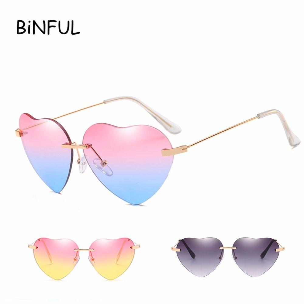 754e2eee8af346 BiNFUL Brand Oversized Sunglasses 2018 Women Cute Sexy Cat Eye Vintage Sun  Glasses Love Heart Mirror Lunette De Soleil Femme Cheap Eyeglasses  Sunglasses ...