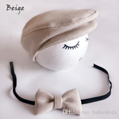 أزياء طفل القبعات طفل أطفال بنين بنات قبعات الوليد بلغت ذروتها قبعة كاب قبعة القوس التعادل صور التصوير دعامة الزي مجموعة