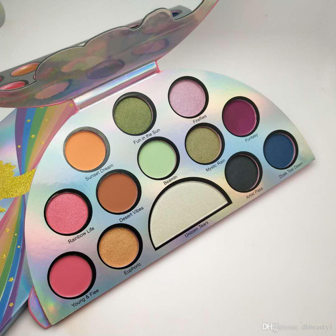Top Quality Life's A Festival Eyeshadow Palette Rainbow Peace Love Eye Shadow Palett