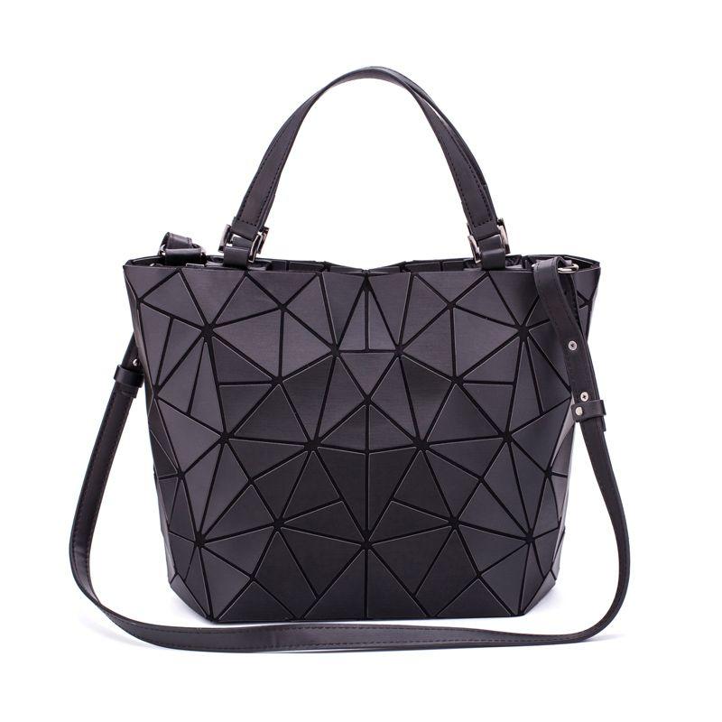 c491584f127e New Women Luminous Handbag Leather Shoulder Bag Women Geometric Handbags  Large Tote Bag Holographic Female Messenger Bolsas