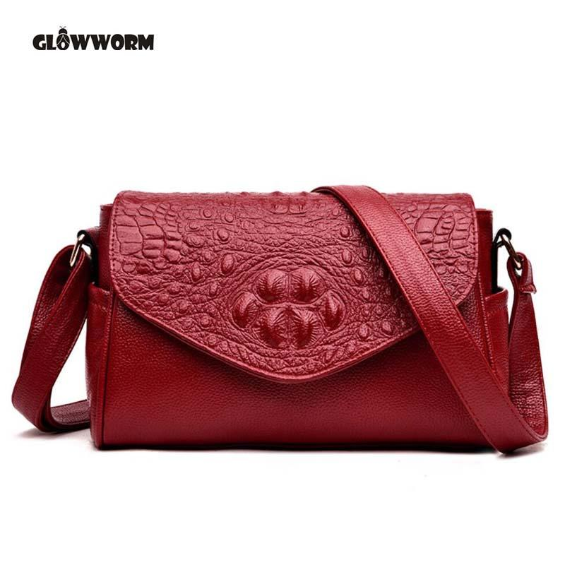 48f11d2033ff High Quality Women s Genuine Leather Handbags Alligator All-match ...