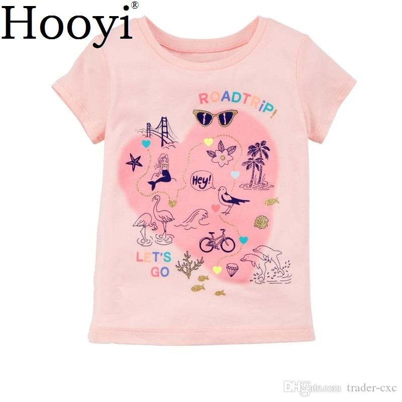 f59f130fc 100% Cotton Baby Clothes Tops Pink Heart Soft Babies Girls Tees ...