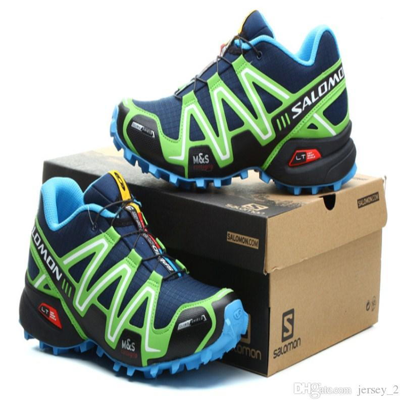 huge discount 018e5 95c8d store salomon speed cross 3 cs iii deep blue apple green men outdoor  crosspeed 3 running