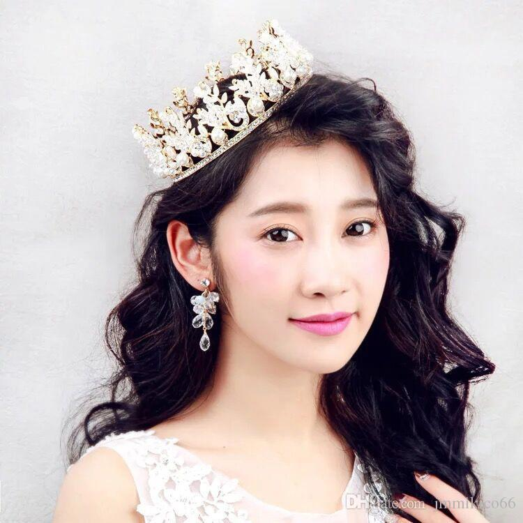 The Bride S Crown Silver Plated Alloy Water Drill Jewelry Wedding