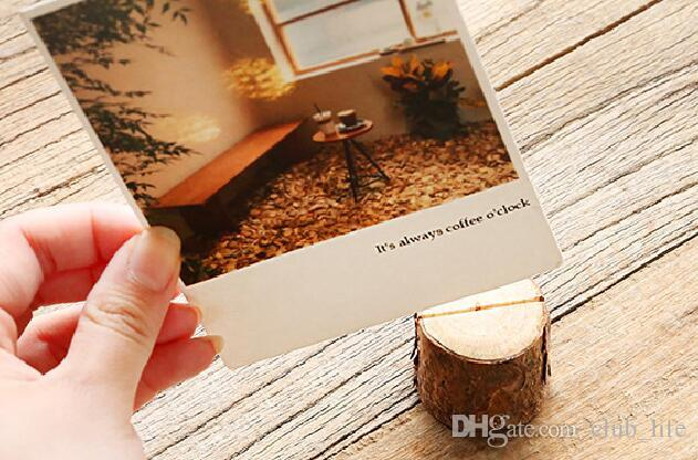 Creative Wood Place Card/Photo Number Name Holder For Vintage Rustic Baby Shower Wedding Party Table Decoration ZJH5498