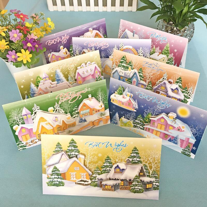 Creative christmas snow room 3d printed paper cards thank you card creative christmas snow room 3d printed paper cards thank you card birthday christmas gift greeting cards with envelope online birthday cards online m4hsunfo