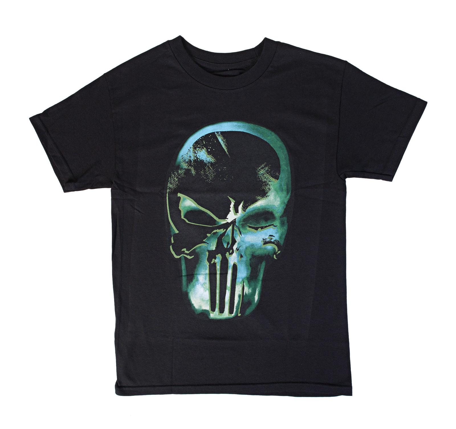 Marvel Punisher Maglietta con logo fantasma a raggi X T-shirt con o-collo