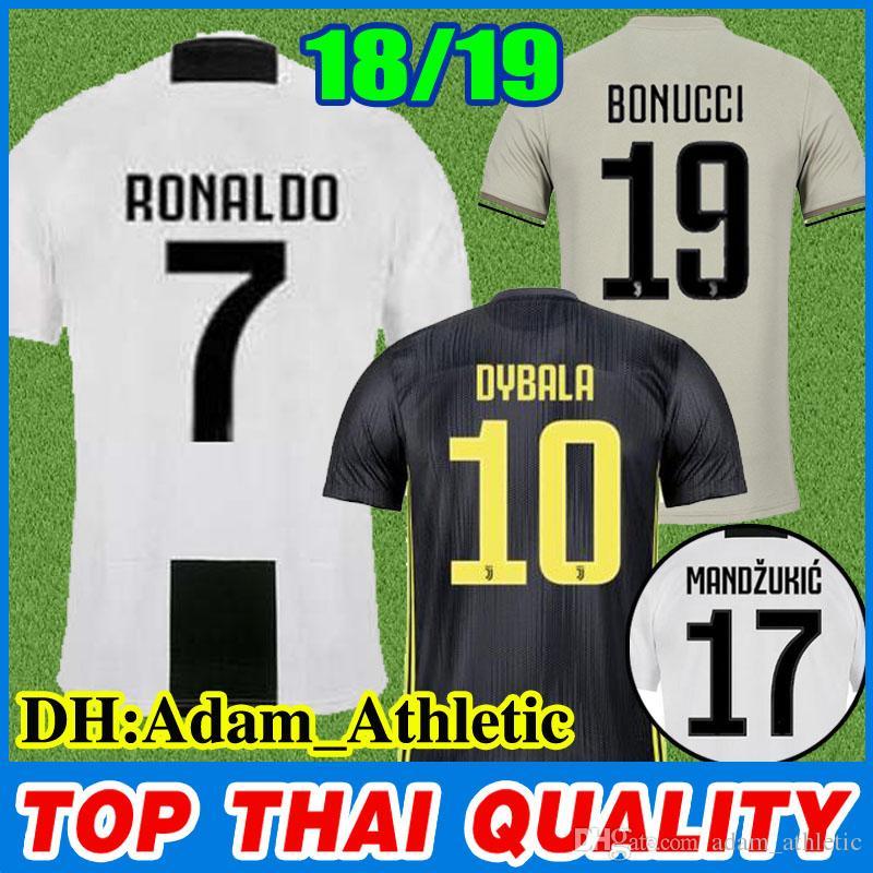 e95fde70f 2019 Juventus Soccer Jersey 18 19 Cristiano RONALD0 Paulo DYBALA ...