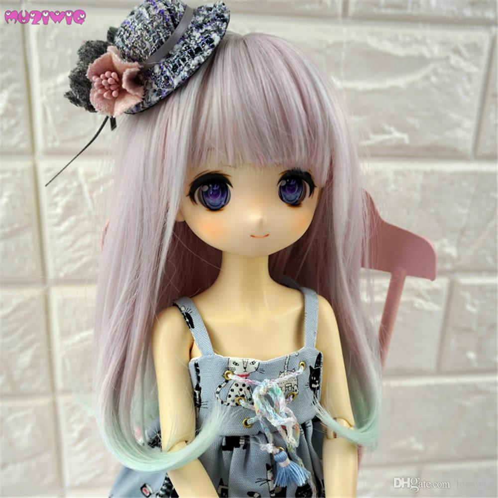 e9c3c9cbe22a9 MUZIWIG Heat Resistant Fiber Curly Ombre Color Doll Hair Wigs For 1 3 1 4  1 6 BJD Doll Wigs Accessories 18 Doll Accessories Wholesale Clothes And ...