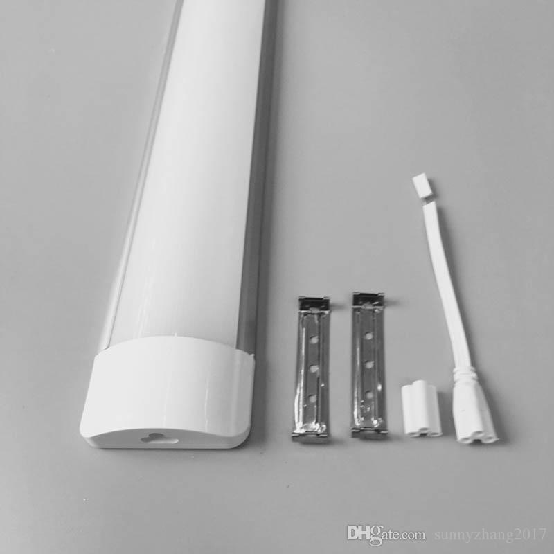 2018 새로운 도착 제한 Darvin LED 선형 조명 4ft 통합 튜브 램프 1200mm 36WTRI- 증거 정화 된 고정 장치 LED 튜브 형광등