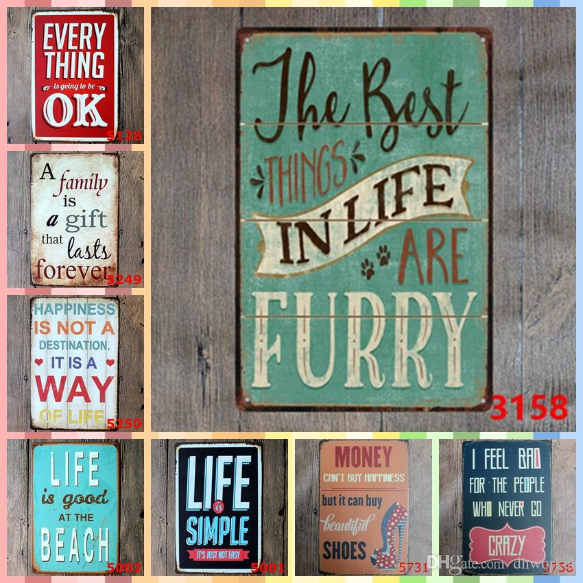 HJEM 20*30cm Paint Metal Tin Signs Bedroom Wall Decorations Home Decor Wall  Art Pictures Wedding Decorations Crafts Suppiles