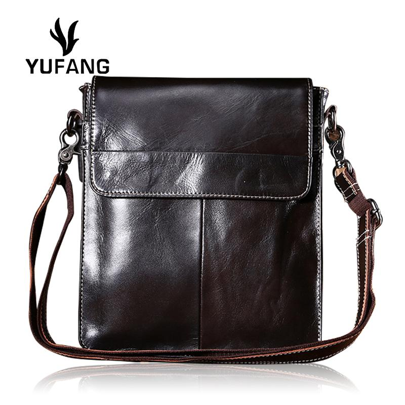 YUFANG Crossbody Bag Male Genuine Leather Accommodating Bag Men Trendy  Messenger Men Cover Oil Waw Leather Business Handbags On Sale Shoulder Bags  From ... 3f062ef72d716