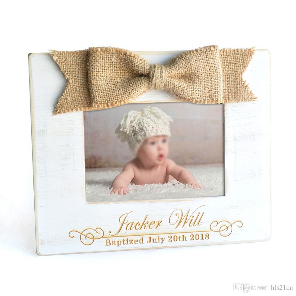 Custom Baptism Gift Personalized Baby Picture Frame Godchild Godson