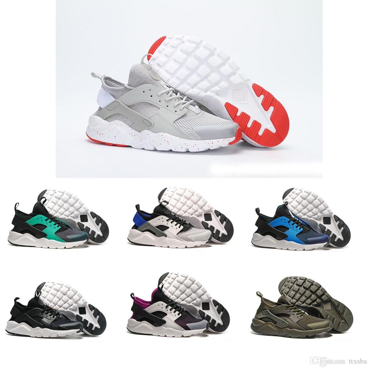 new style 9f4a0 b0e67 Compre 2017 Nike Air Huarache 1 2 3 I II III Nuevo Diseño Air Huarache 4 IV  Zapatos Casuales Para Hombres De Las Mujeres, Zapatillas De Deporte Huarache  ...