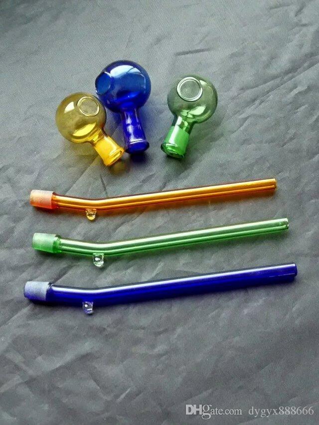 분리 색 냄비, 도매 유리 봉 오일 워터 파이프 유리 파이프 오일 조작 흡연, 무료 배송