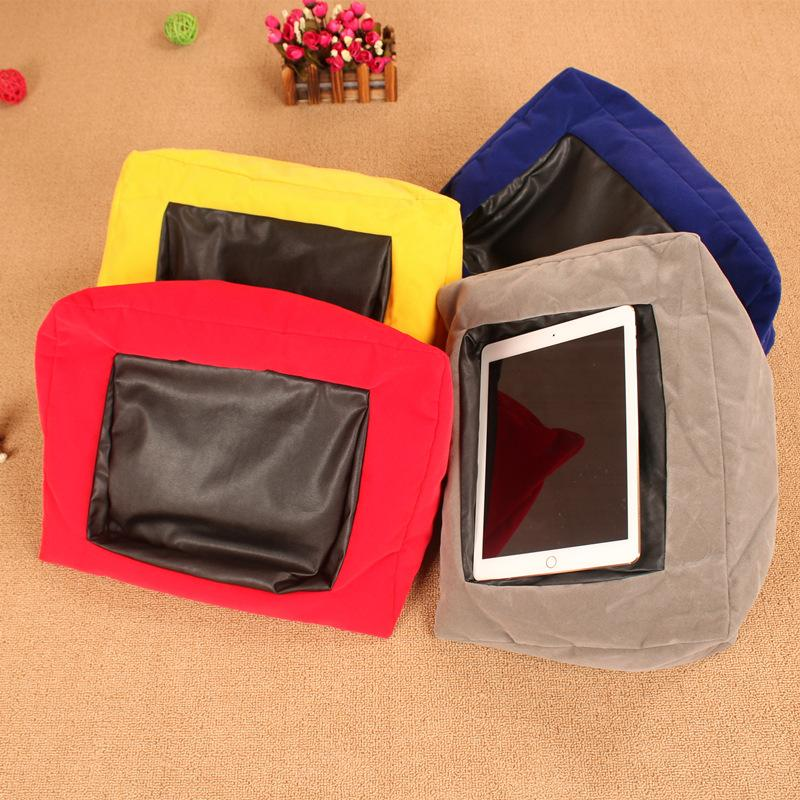 Multi Function Portable Ipad Cushion Tablet Pc Cushion Reading Bracket Print Canvas Function Pillow For Ipad Iphone