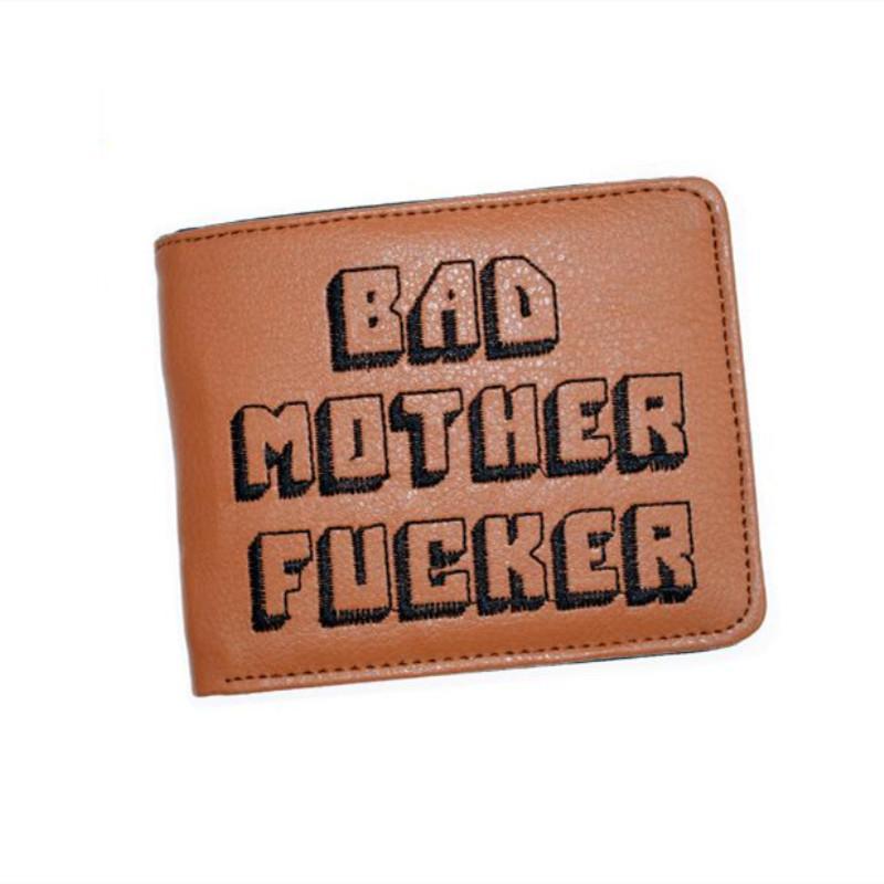 925801221d4 MaDonNo Pulp Fiction Jules Wallet With Zipper Coin Pocket Bad Mother  Letters Boys Wallet Card Holder Vintage Gift Purse Western Wallets Vegan  Wallet From ...