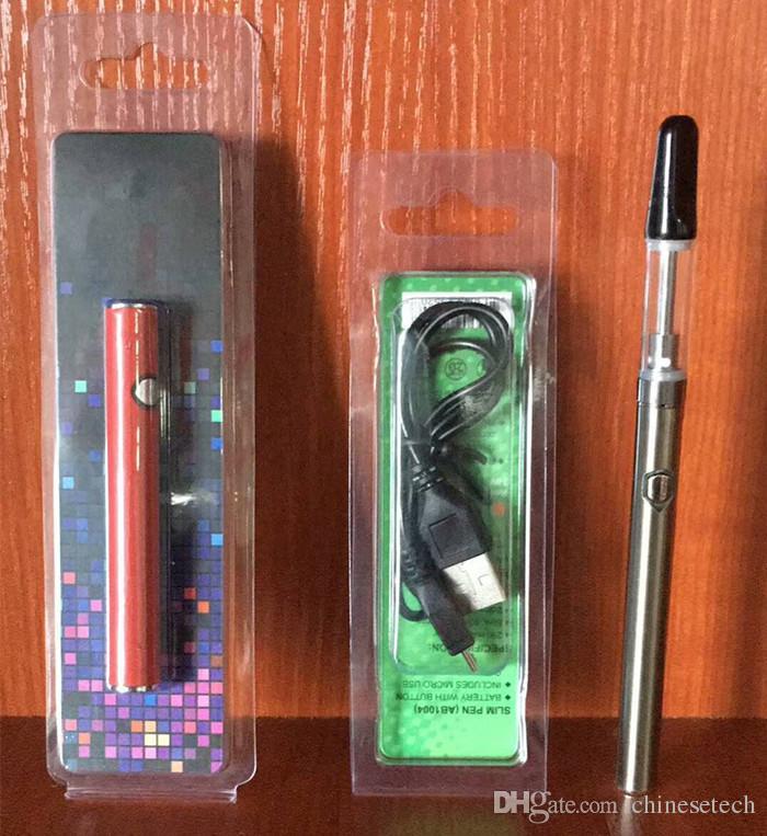 Batteria di preriscaldamento originale T350 350 mAh carica di fondo a tensione variabile 510 Batteria penna di vaporizzatore a olio spesso anche batteria scarica