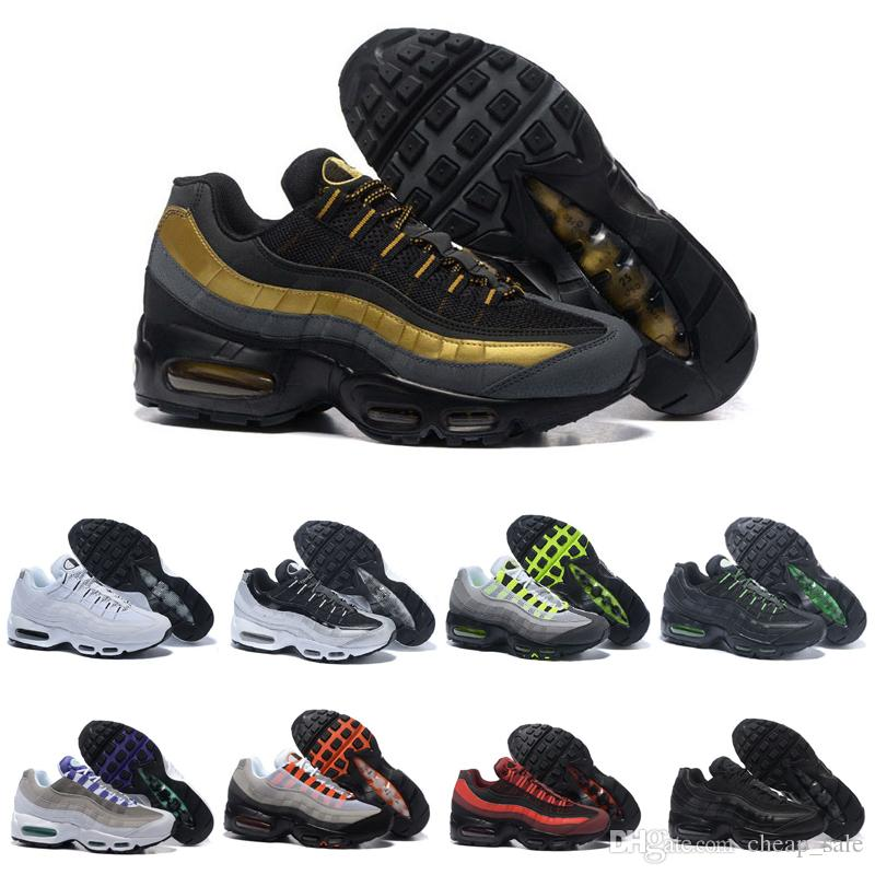 finest selection df83a 69dba Acheter Nike Air Max 95 Designer Mens Ultra Blanc Noir Gris Rouge 95 OG  Chaussures De Course Classique Femmes Sports 95 Formateurs Tennis Athletic  Runner ...