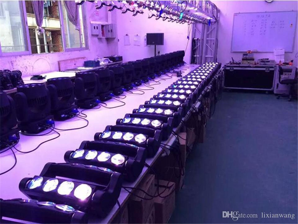 / caso di volo Moving Head Led Spider Light 8x12W 4in1 RGBW ha condotto la luce del partito del DJ illuminazione del fascio luce capa commovente