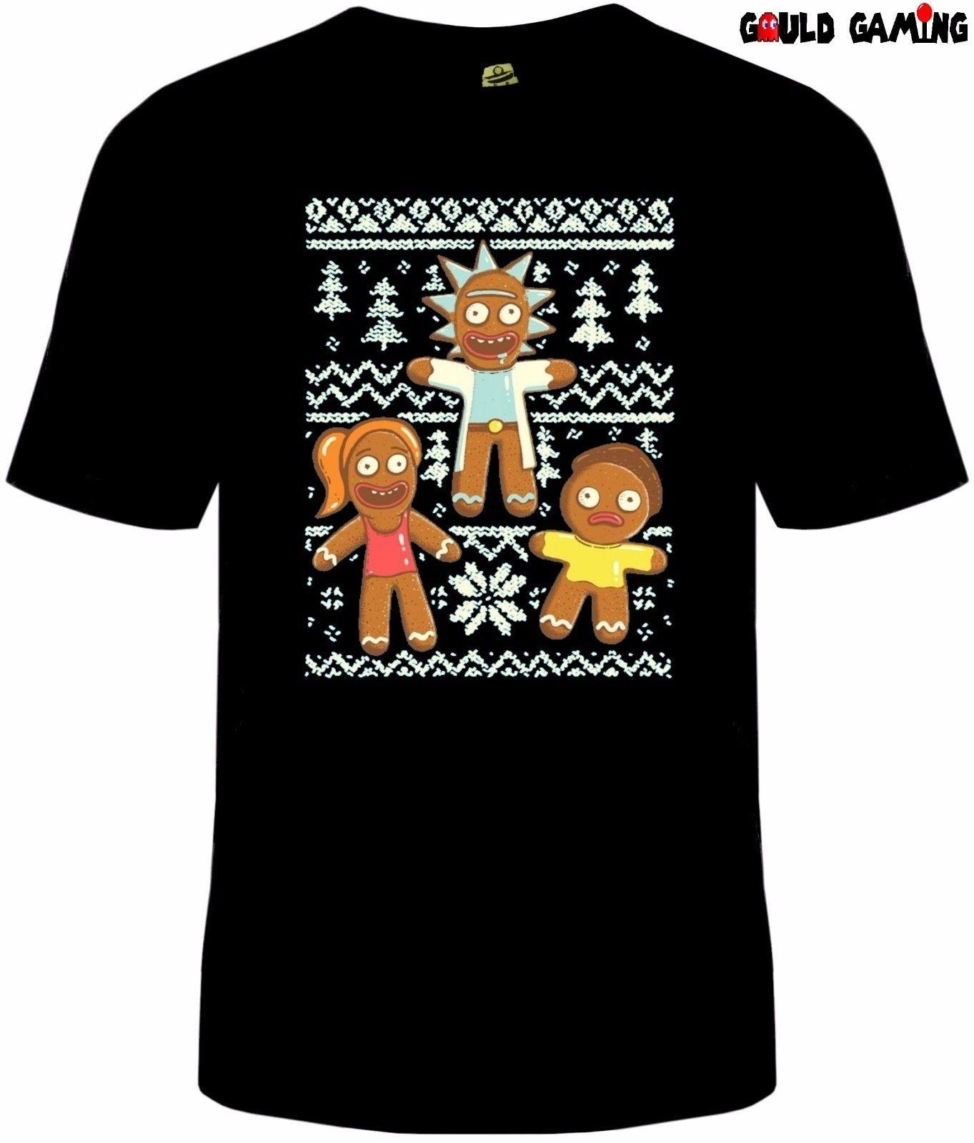 Rick And Morty Christmas Sweater.Rick And Morty Ugly Sweater Christmas T Shirt Funny Tv Unisex Gingerbread New