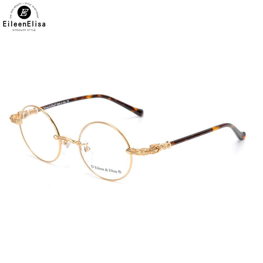 2ec8f0cd3cf44 Compre EE 2018 Nova Chegada Óculos De Ouro Quadro Armação De Metal Redondo  Óculos Óculos Armações De Óculos Oculos De Grau Olho De Vidro De Exyingtao,  ...
