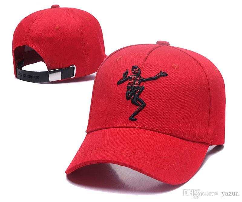 8cde1c3bd990f Men Hip Hop Hat Street Skateboard Hat Women Skull Embroidery Flat ...