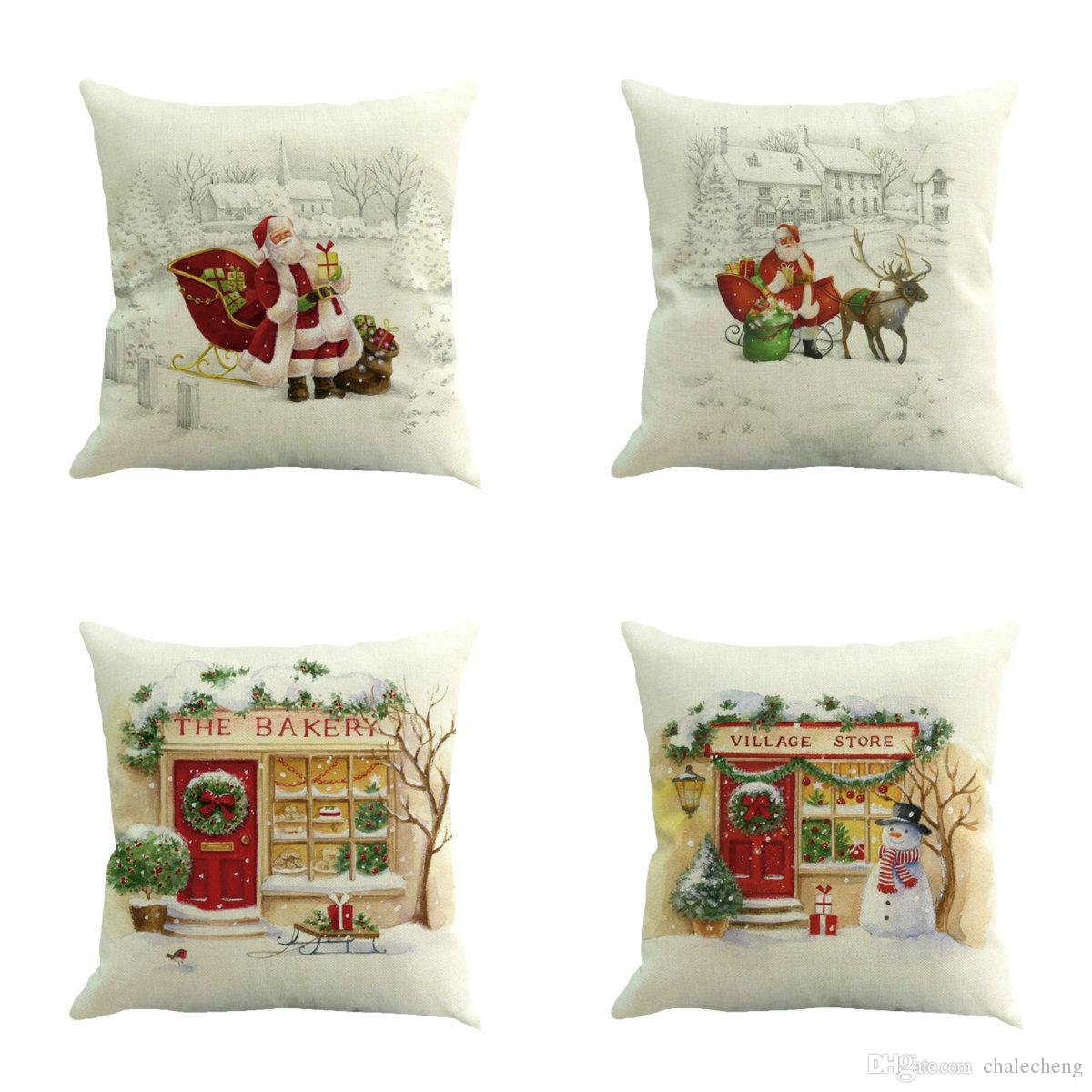decorative throw pillows cover case merry christmas decorations rh dhgate com
