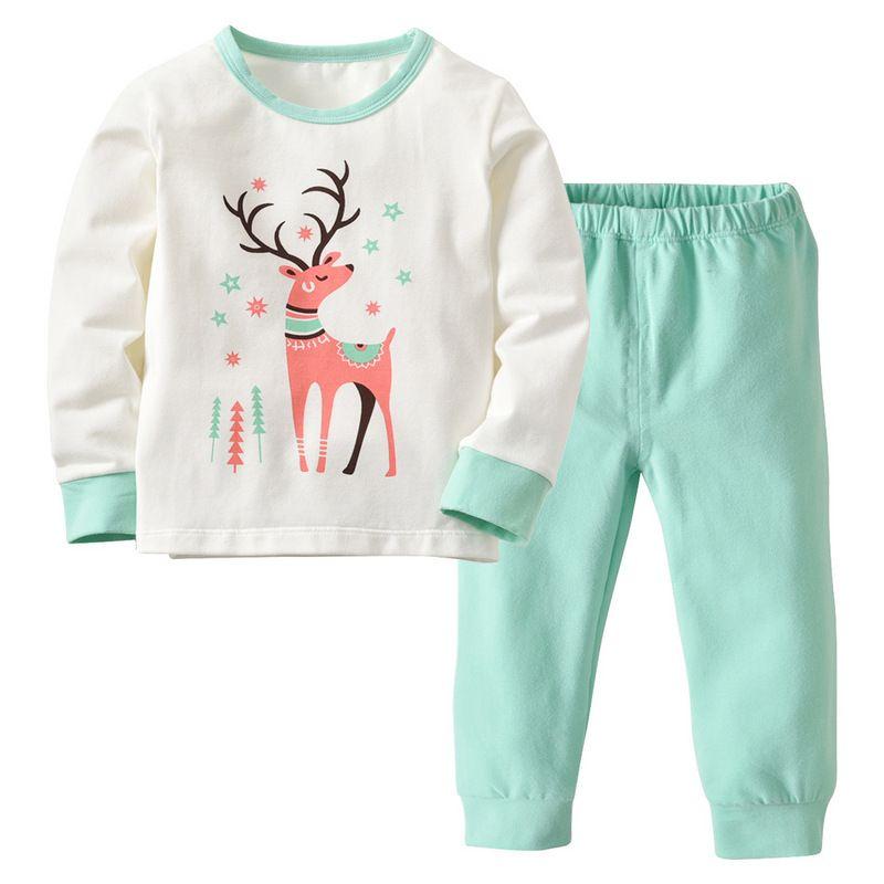 d27846c0b Kids Baby Household Clothing 2018 Boys Or Girls Cotton Printing Deer ...
