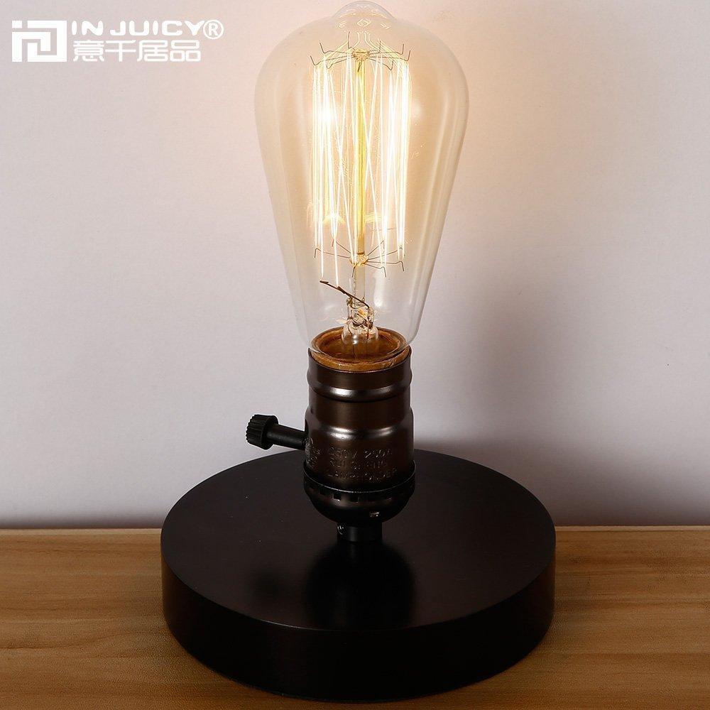 edison table lamp vintage home lighting. Vintage-industrial-wood-edison-bulb-e27-led.jpg Edison Table Lamp Vintage Home Lighting V