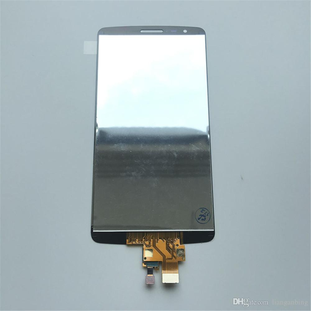 NOVA Tela LCD Substituição Touch Screen Painéis Digitador Com Montagem Para LG G3 Stylus D690 Preto Com Vidro Temperado DHL logística