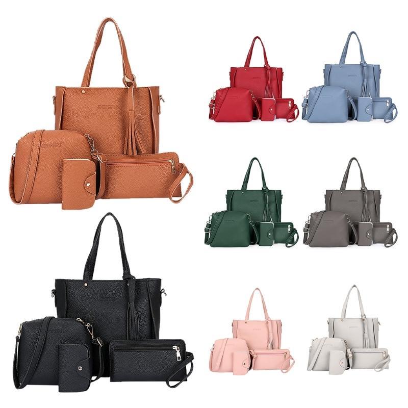 6d47c8ec9fab 2019 Women S Fashion Shoulder Bags Set Leather Handbag Tote Purse Messenger Satchel  Set Luxury Bags For Women 2018 Crossbody Bag Bags For Sale Handmade ...