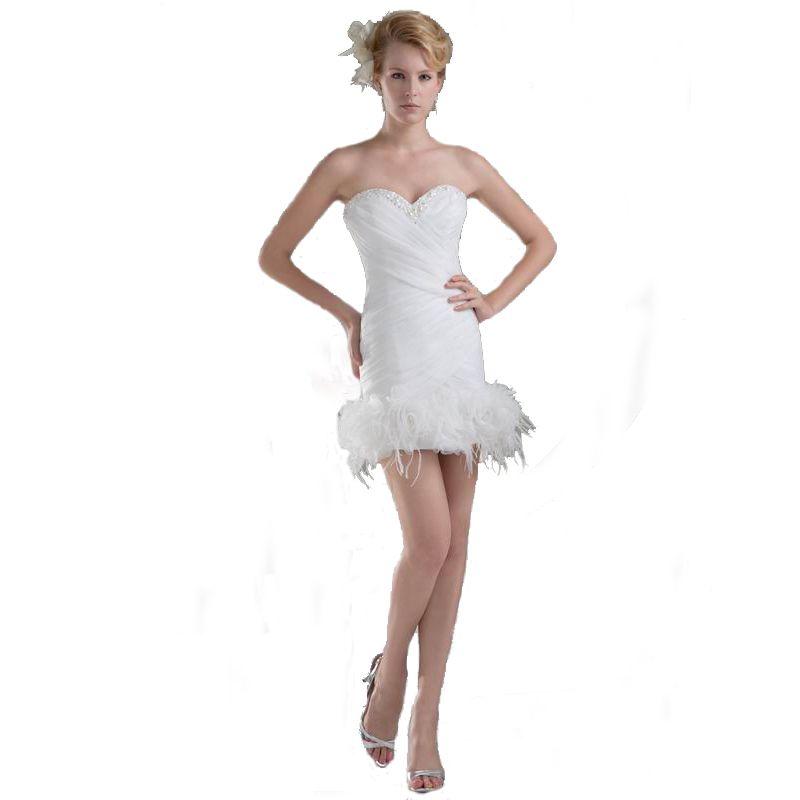 2018 Sheath Design Competitive Price Above Knee Ladies Wedding Dress