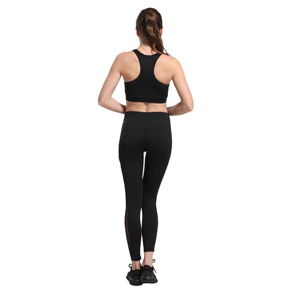 2018 Nuevo diseño Sexy Training Women's Sports Pantalones de Yoga Leggings Elastic Gym Fitness Workout Running Medias Compresión Pantalones