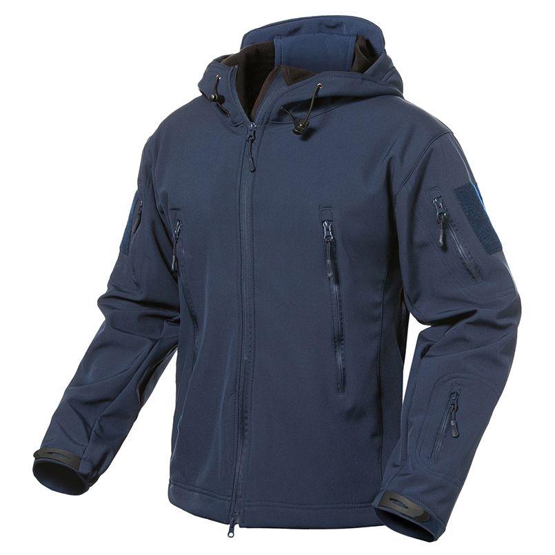Navy Blue Soft Shell Military Jacket Men Waterproof Army Tactical Jacket  Coat Winter Fleece Hoody Windbreaker Jacket Mens Jacket For Sale White  Bomber ... 921c10e8b39
