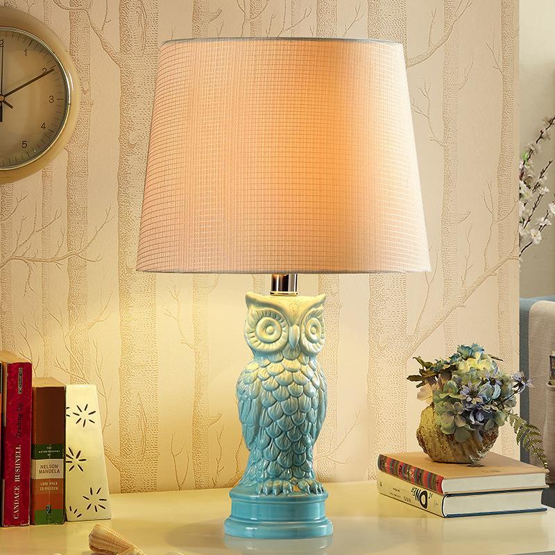 2019 Yook 30 49cm Mediterranean Ceramic Table Lamp Beige Lampshade