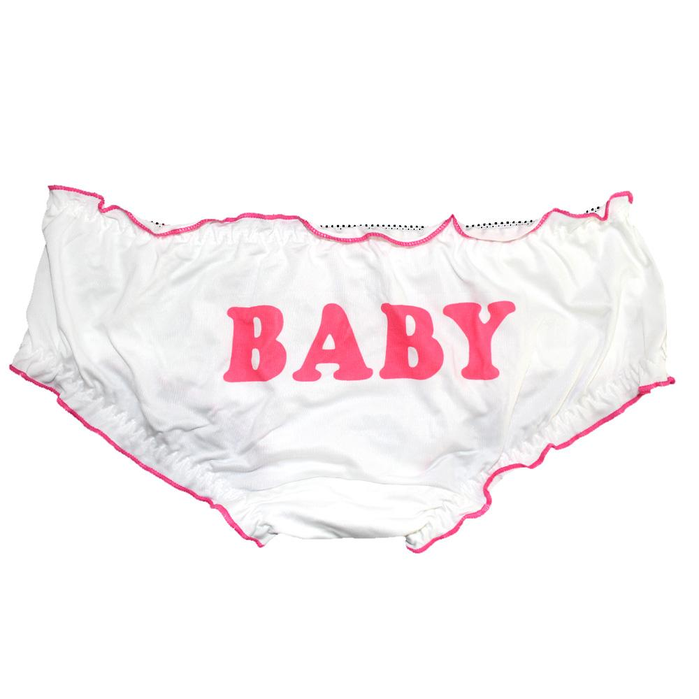 Cute & Sexy Laciness Bad Girl Letters Printed Lolita Underwear Women Panties Kawaii Ruffles Trim Briefs