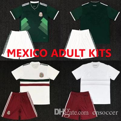 6e25d33094a 2018 Mexico jersey national team Adult Kits Soccer Jerseys CHICHARITO  Uniform Home Green Away white 2018 World Cup G.Dos football kits