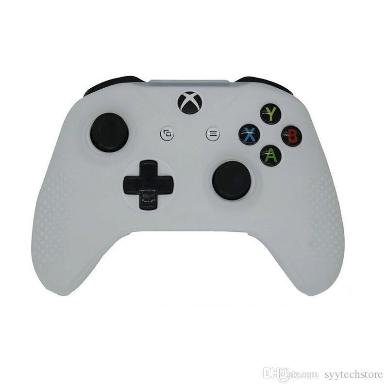 무료 배송 Xbox One 컨트롤러 용 보호 소프트 실리콘 젤 고무 커버 스킨 케이스 블랙, 화이트, 블루, 레드 컬러