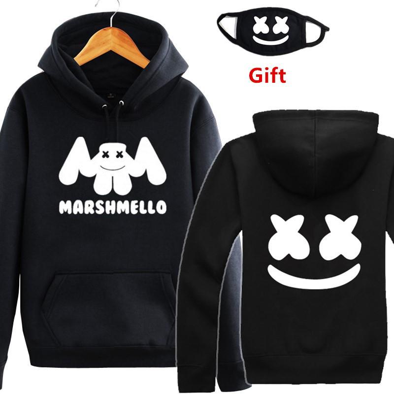 Compre Máscara Como Regalo Más Tamaño Marshmello DJ Sudaderas Con Capucha  Sudaderas Hombres Mujeres Hip Hop Rapero Bboy MC Bailarín Chaqueta Con  Capucha ... c17e5b9a5a6