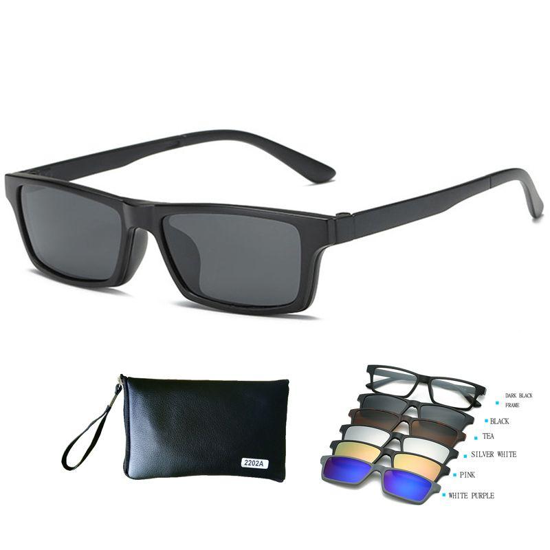 Wholesale Tr Eyeglass Frames Polarized With 5 Clip On Sunglasses Men ...