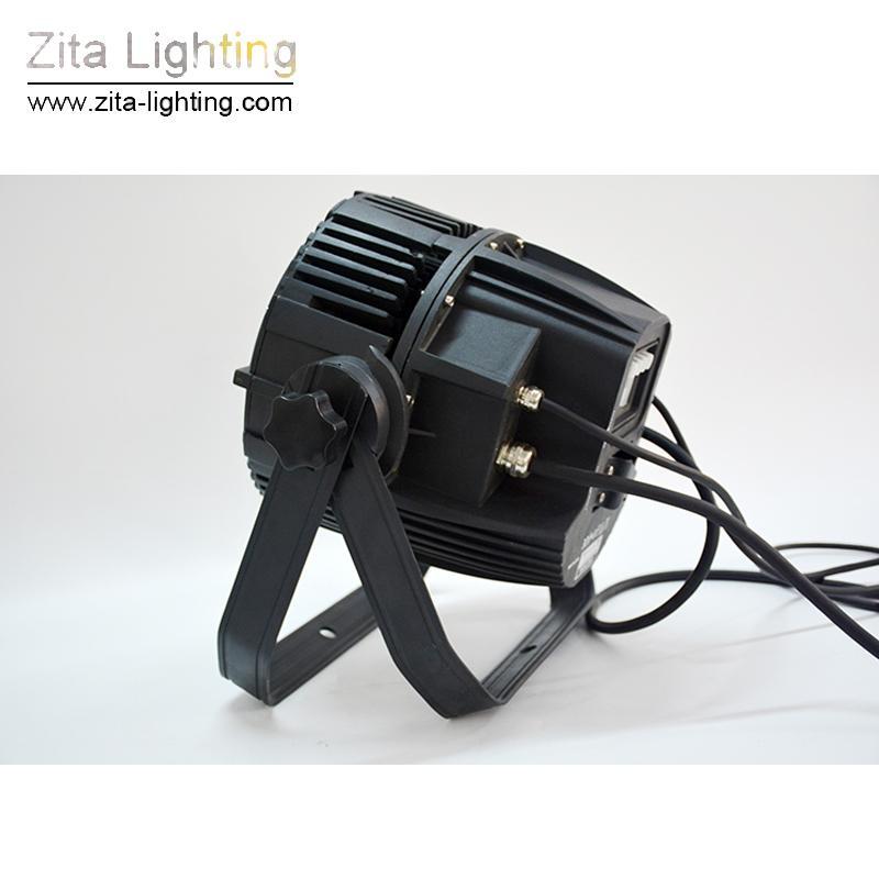 2 Unids / lote Zita Iluminación LED Par Luces Escenario Exterior Iluminación Par Can Waterproof 24X10W RGBW IP65 DMX512 Tower Building Wall Washer efecto DJ