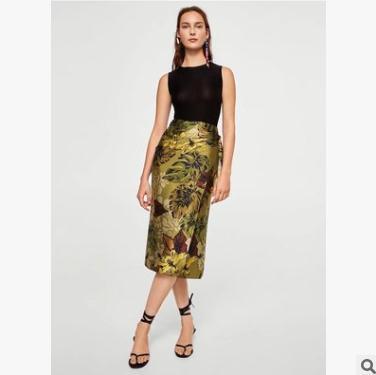 006ed9b71 Compre Vestido De Mujer De Verano Cintura Alta Corbata Impresa Falda Moda  Casual Para Mujer Falda Larga Tendencia Floral Ropa A  19.9 Del Fulary b