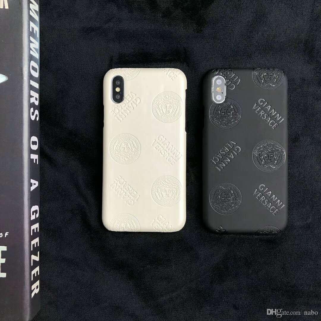 new product f7338 aed10 High Level Popular Medusa Grid Phone Case For iPhone X XS Max XR 6 6s 7 8  8plus Case for Samsung S9 S8 S8plus Note 8 9 Back Phone Back Cover