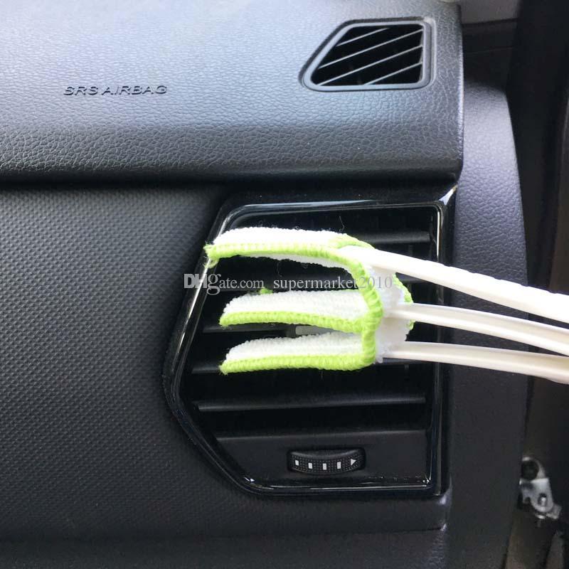 منتجات التنظيف سيارة الهواء المعطر فرشاة داخل السيارة نظيفة تنظيف تكييف تنفيس الستائر