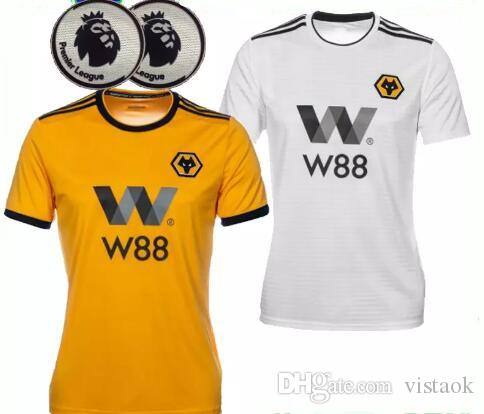 c513edc2a 18 19 ADULT HOME SHIRT Wolverhampton Wanderers Customized Top Thai Quality  Soccer Jerseys Diogo Jota Boly Costa 2018 2019 WOLVES FC Football WOLVES  Jota ...