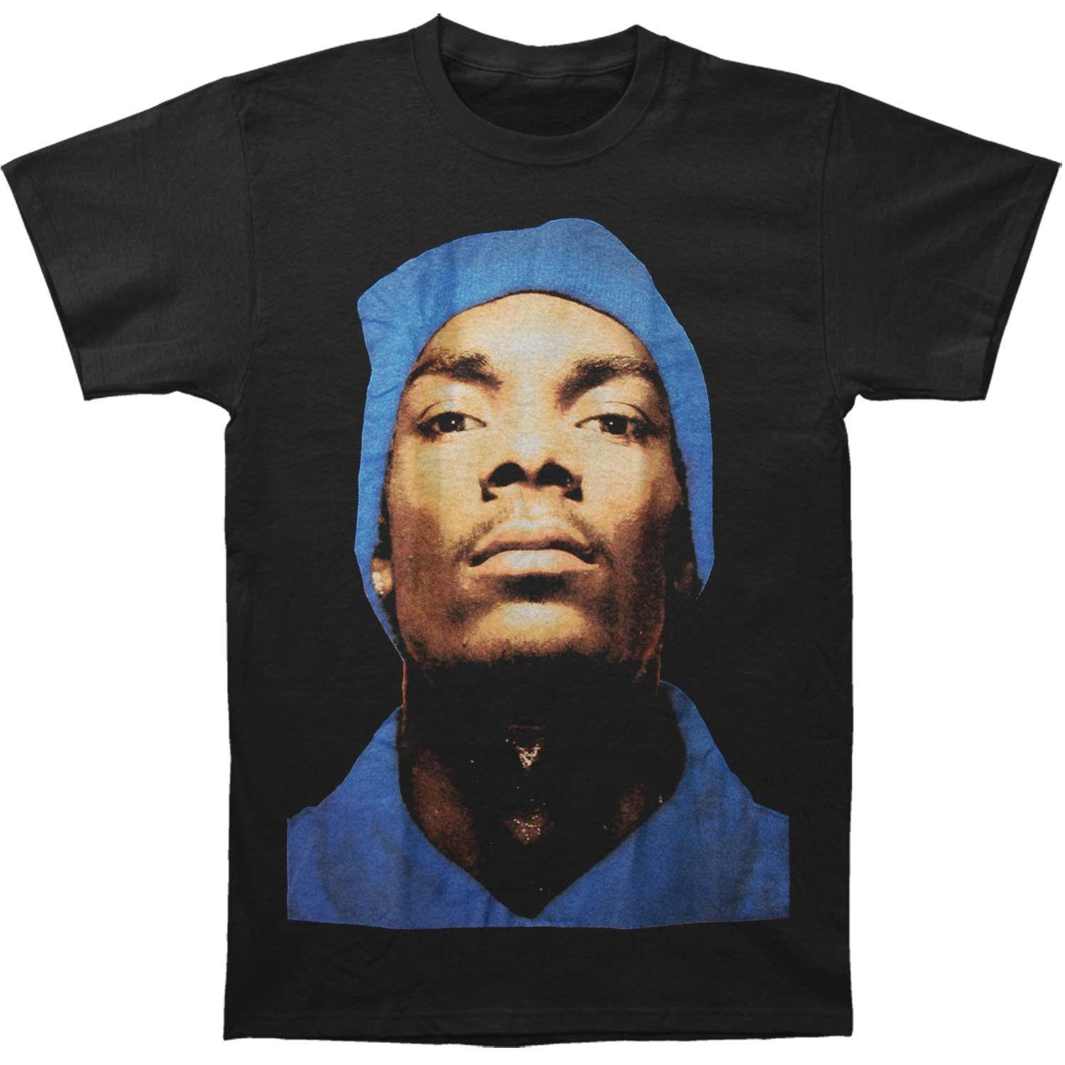 Official Snoop Dogg - Beanie Profile - Men's Black T-Shirt US IMPORT Cheap  wholesale tees Fashion Style Men Tee Gift Print T-shirt