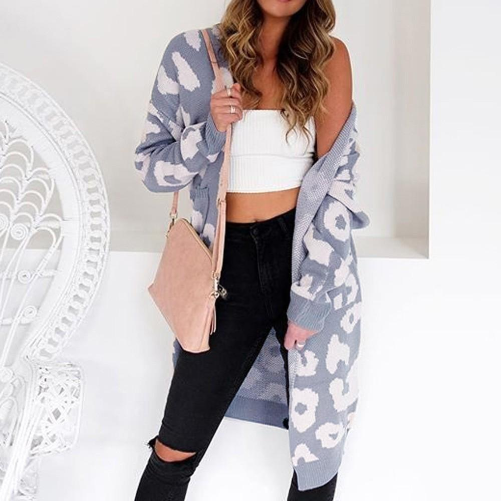 5dbadbb4 2019 ISHOWTIENDA Cardigan Female Sweater 2018 Long Sleeve Cardigan Sweaters  Casual Leopard Print Coat Women Sueter Mujer From Missher, $23.29 |  DHgate.Com