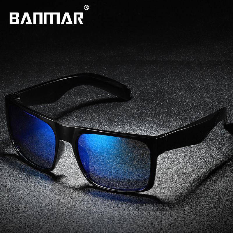 34e6dad43f8da Compre Banmar Marca Dos Homens Do Vintage Óculos De Sol Quadrado Polarizado Uv400  Lente Óculos Acessórios Masculinos Óculos De Sol Para Homens   Mulheres ...