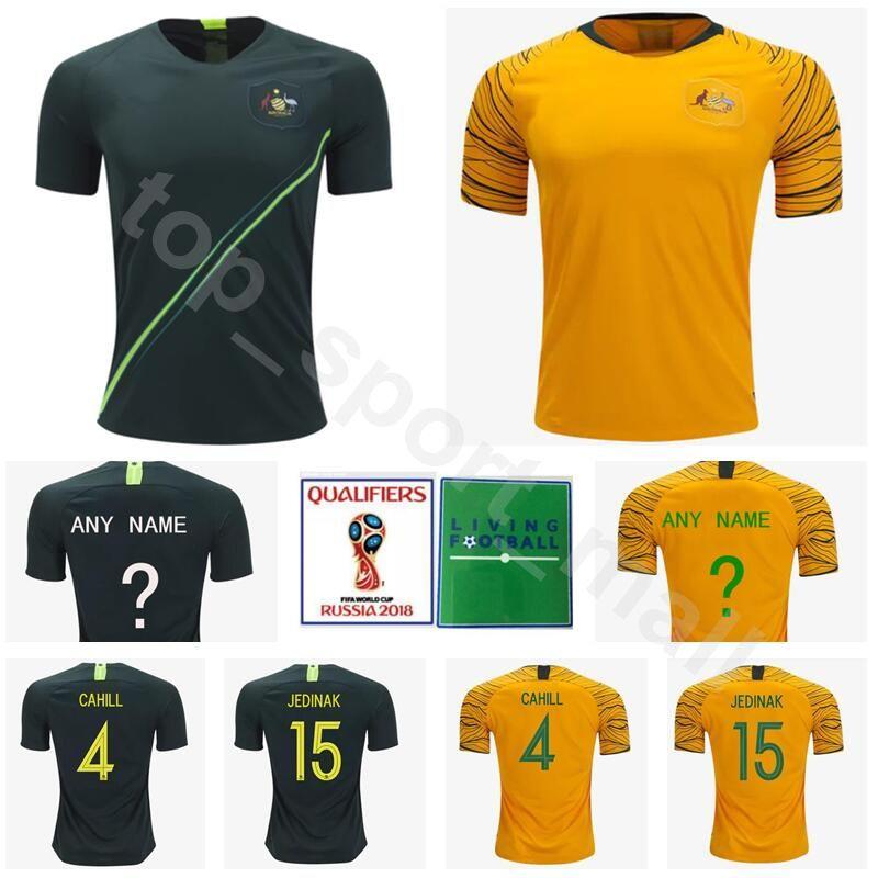 4a6d14043 2019 2018 World Cup Men Soccer Jersey National Team 4 Tim Cahill Football  Shirt Kits 15 Mile Jedinak 13 Aaron Mooy Thai Green Yellow From  Top sport mall